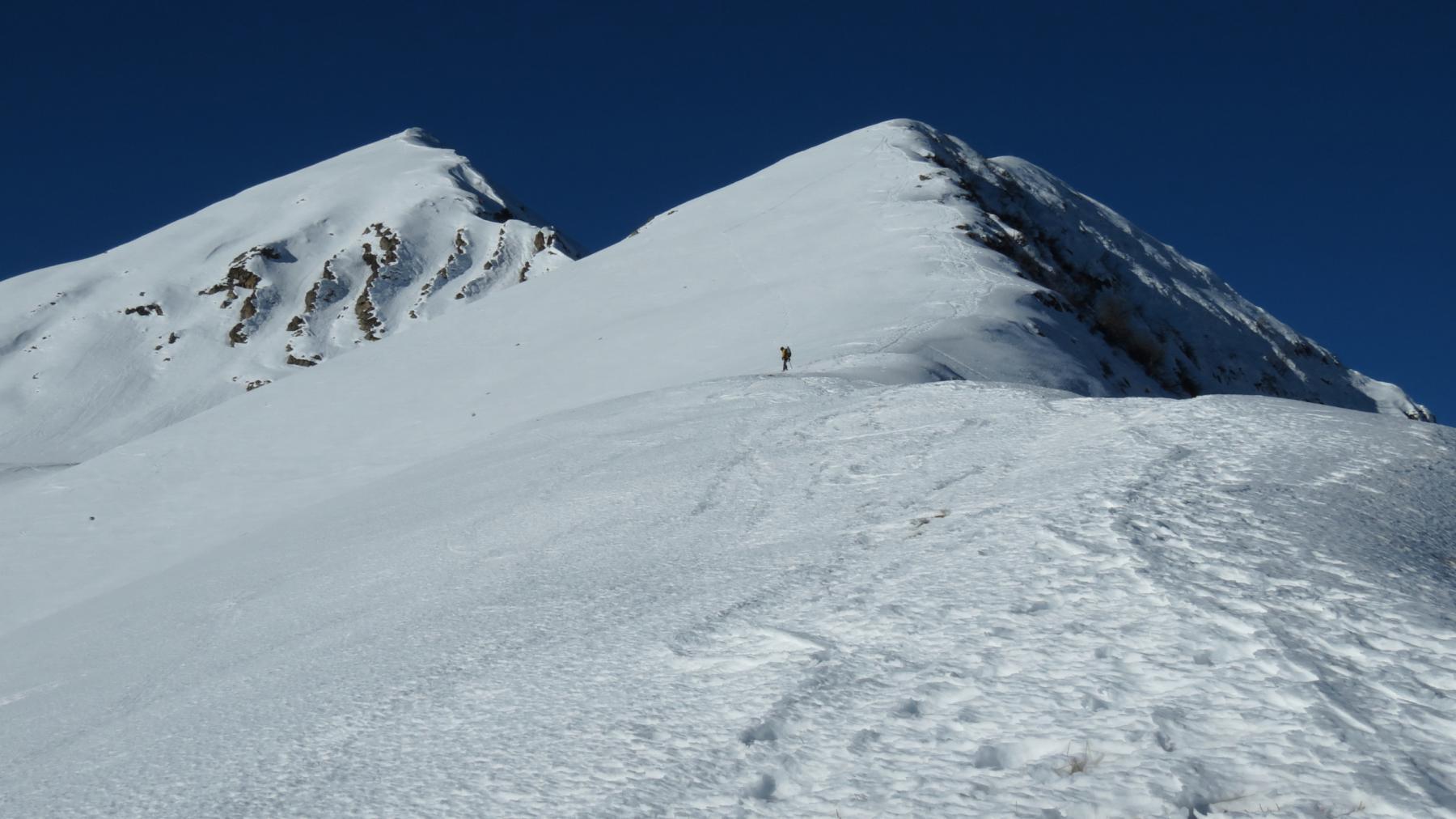 la parte alta della cresta con la Cima Giosolette e il Monte Creusa Orientale