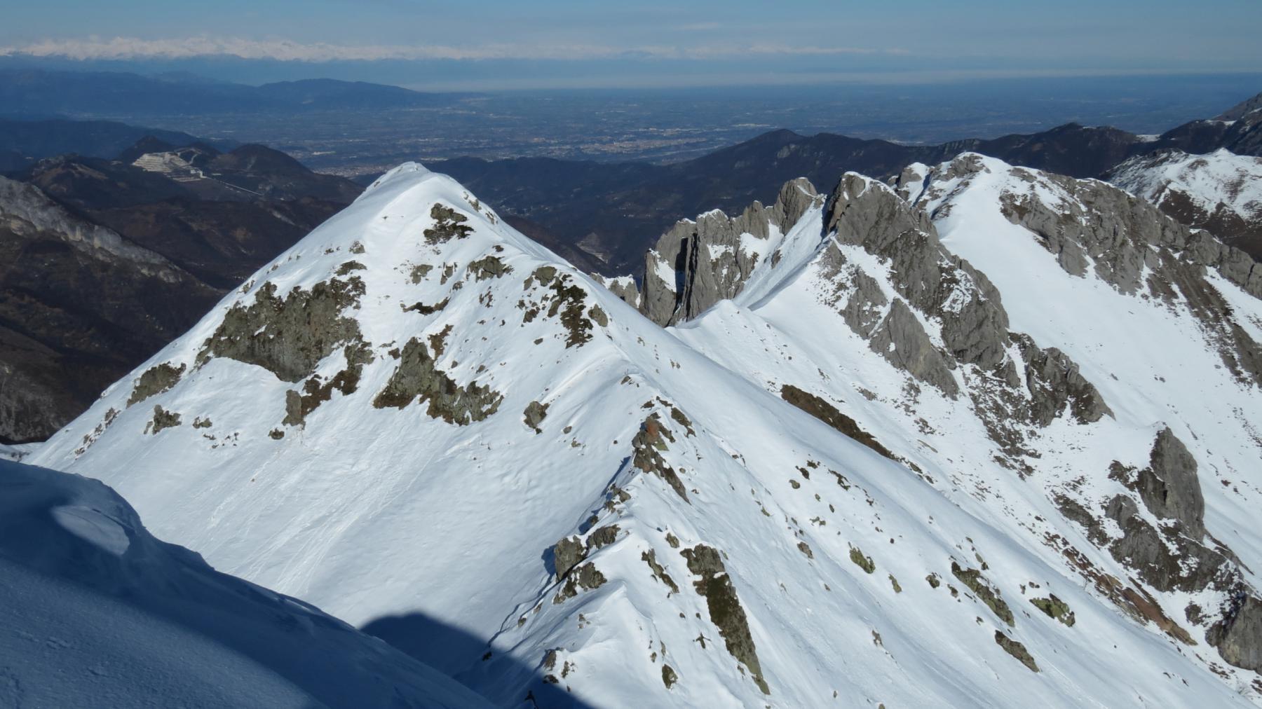 Monte Giosolette, Bec Matlas e Bec Baral visti dalla cima