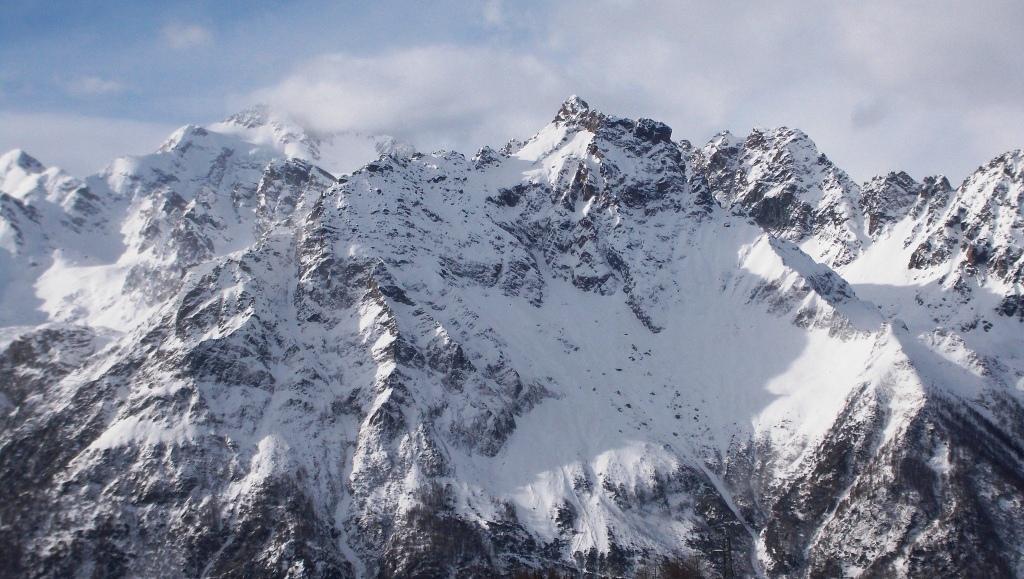 Il Monte Braccia visto dal rifugio Motta