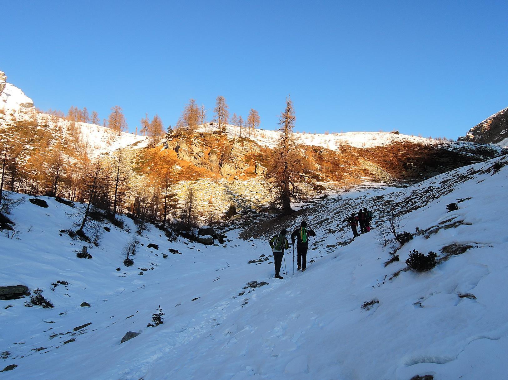 Si studia il percorso dall'Alpe I Motti