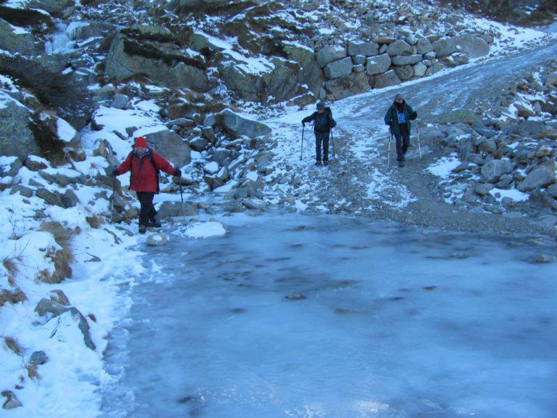 ghiaccio sul percorso