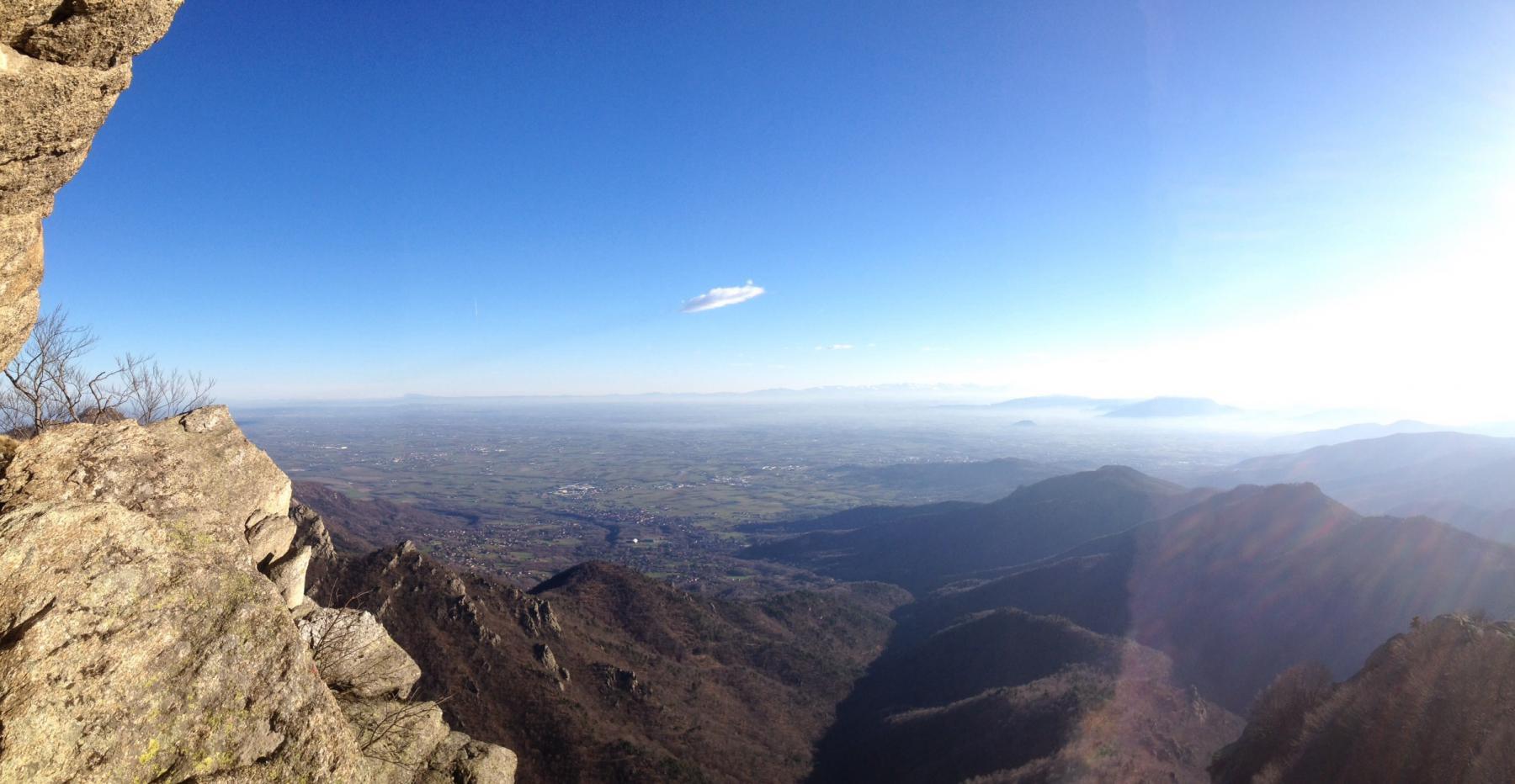 Panorama dalla terza sosta della via del Condor