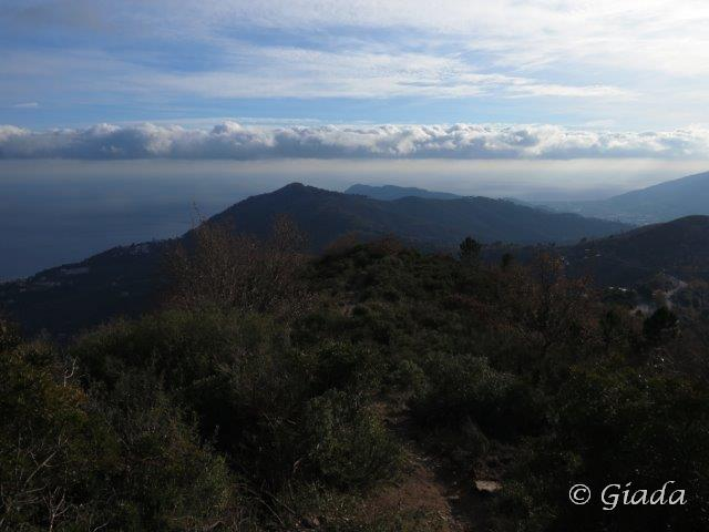 Il crinale verso Capo Mele