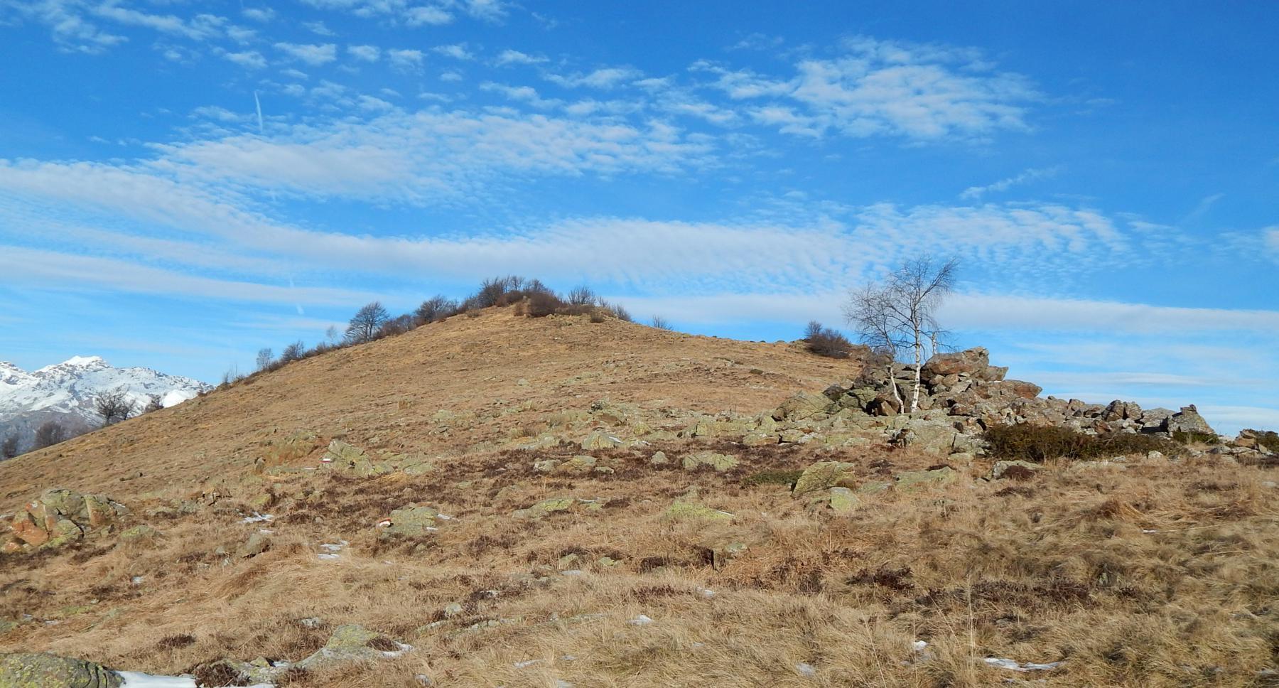 Bal Maschè,verso la cresta per il Colombano