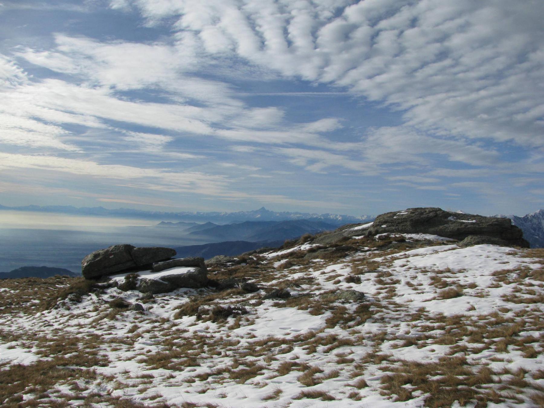 Panorama verso il Monviso
