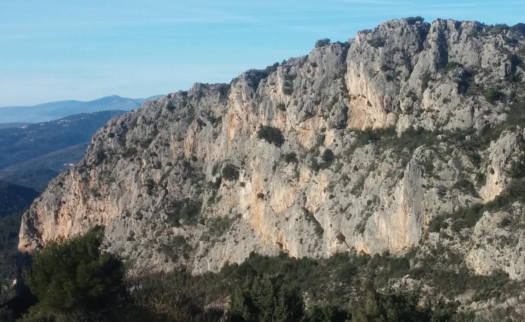 la parete vista dal park