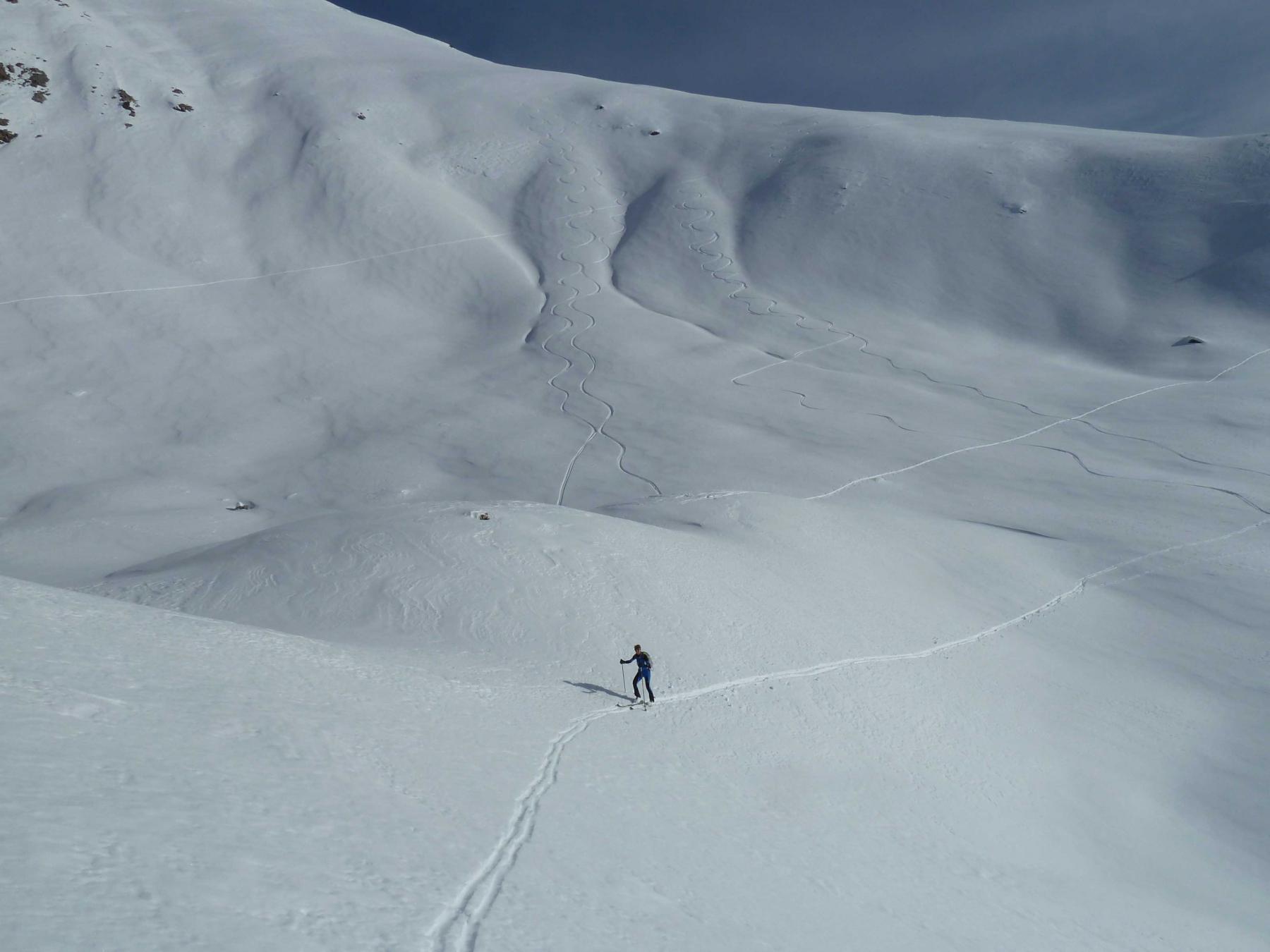 Ripello per raggiungere la cima di Repiatetta
