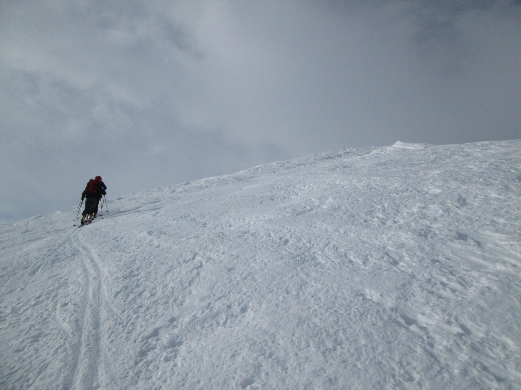 arrivati tra vento e neve
