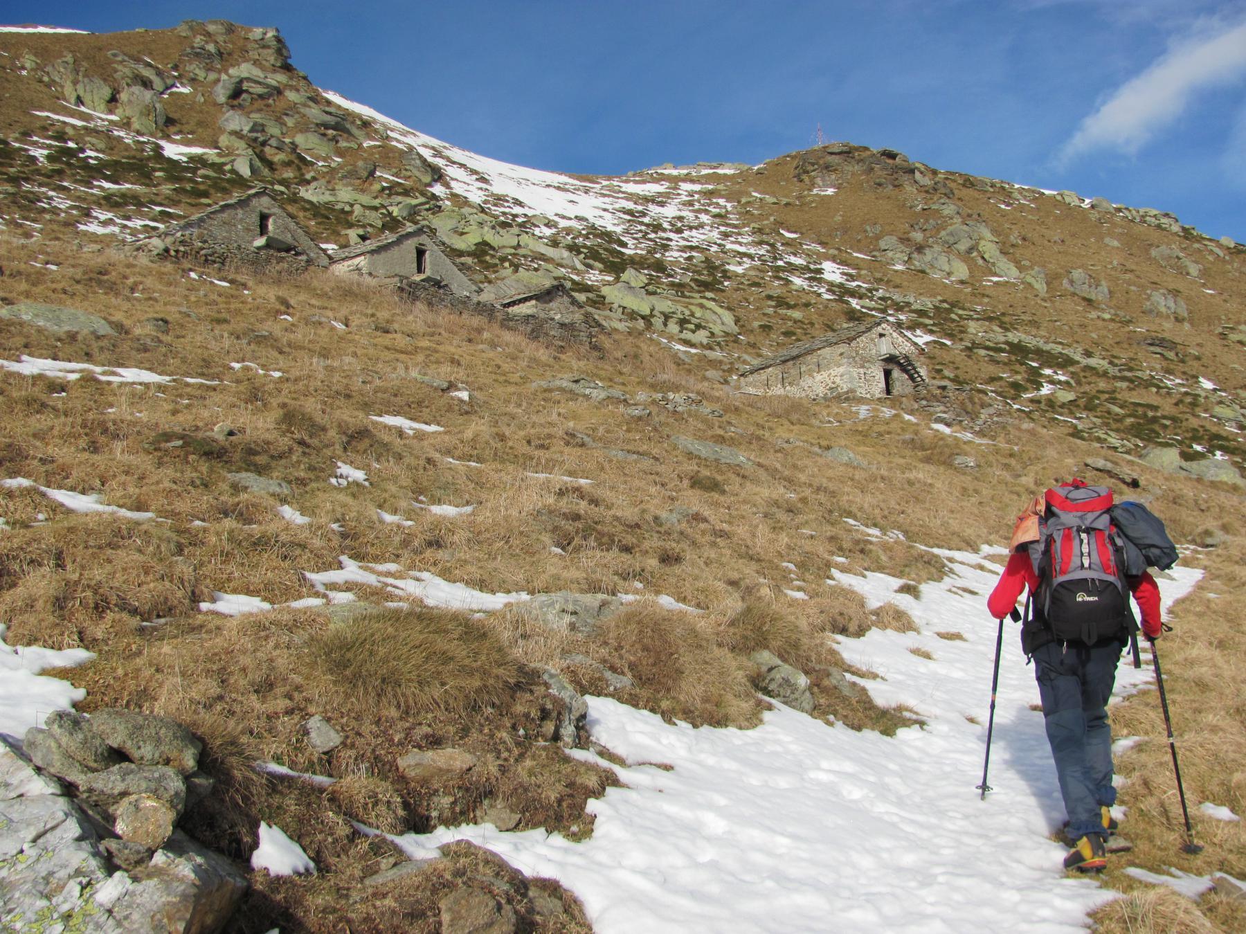 Arrivati all'Alpe Buscajoun m. 1965