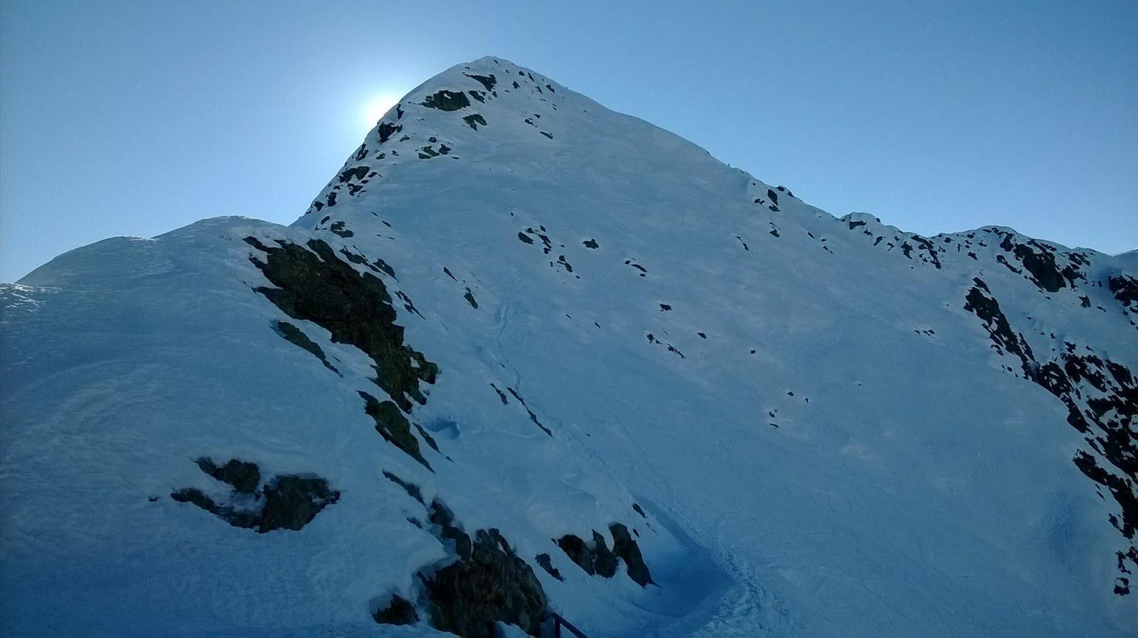 La cresta vista dall'antecima