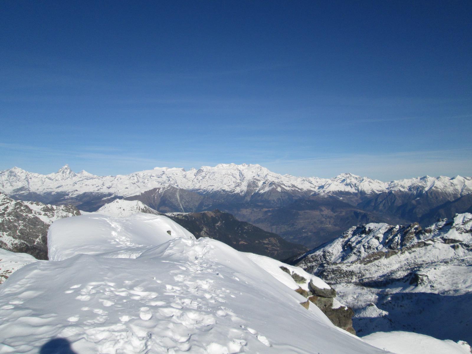 panorama dalla cima verso Rosa e Cervino
