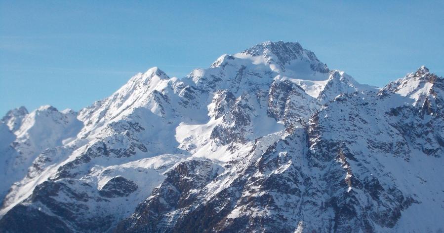 Il Monte Disgrazia visto dal Monte Motta