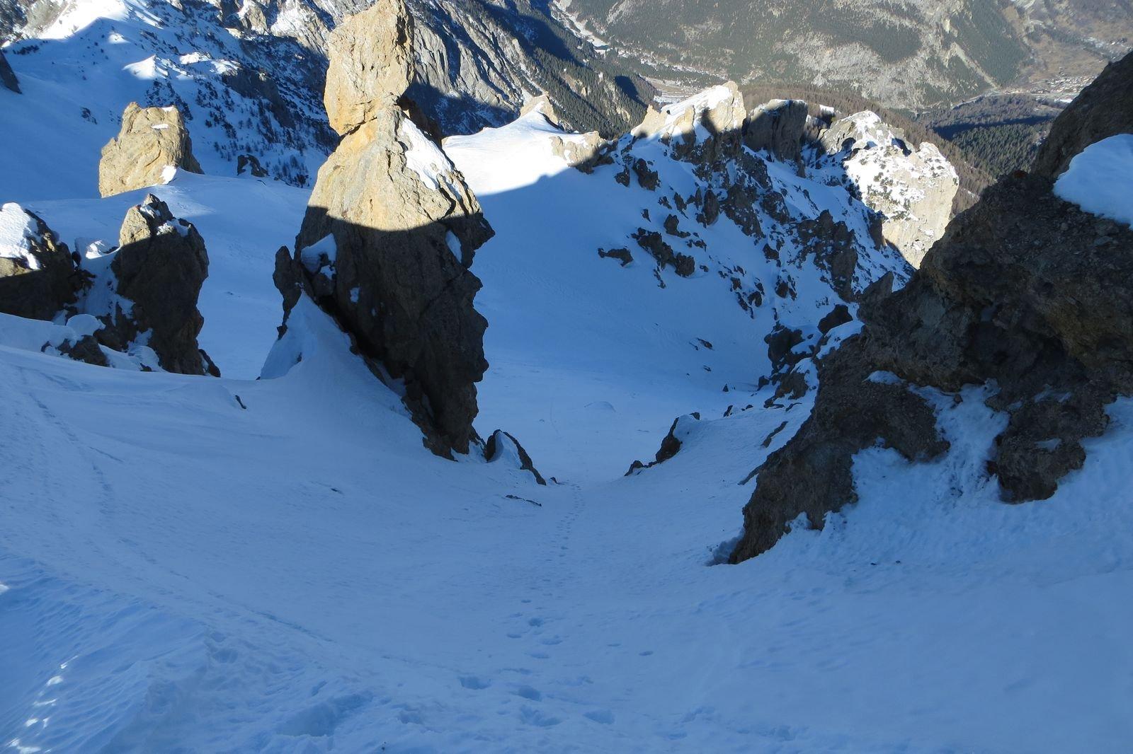 la parte alta dall'uscita in cresta a pochi metri dalla vetta