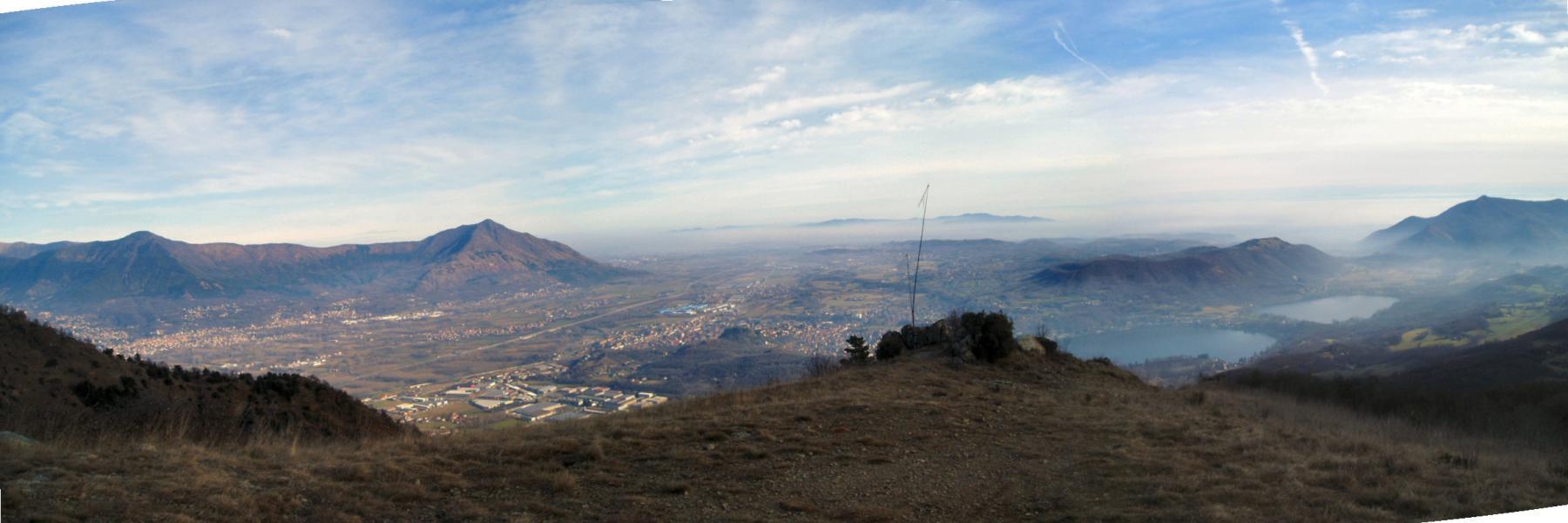 panoramica con musinè, zona industriale e laghi di avigliana