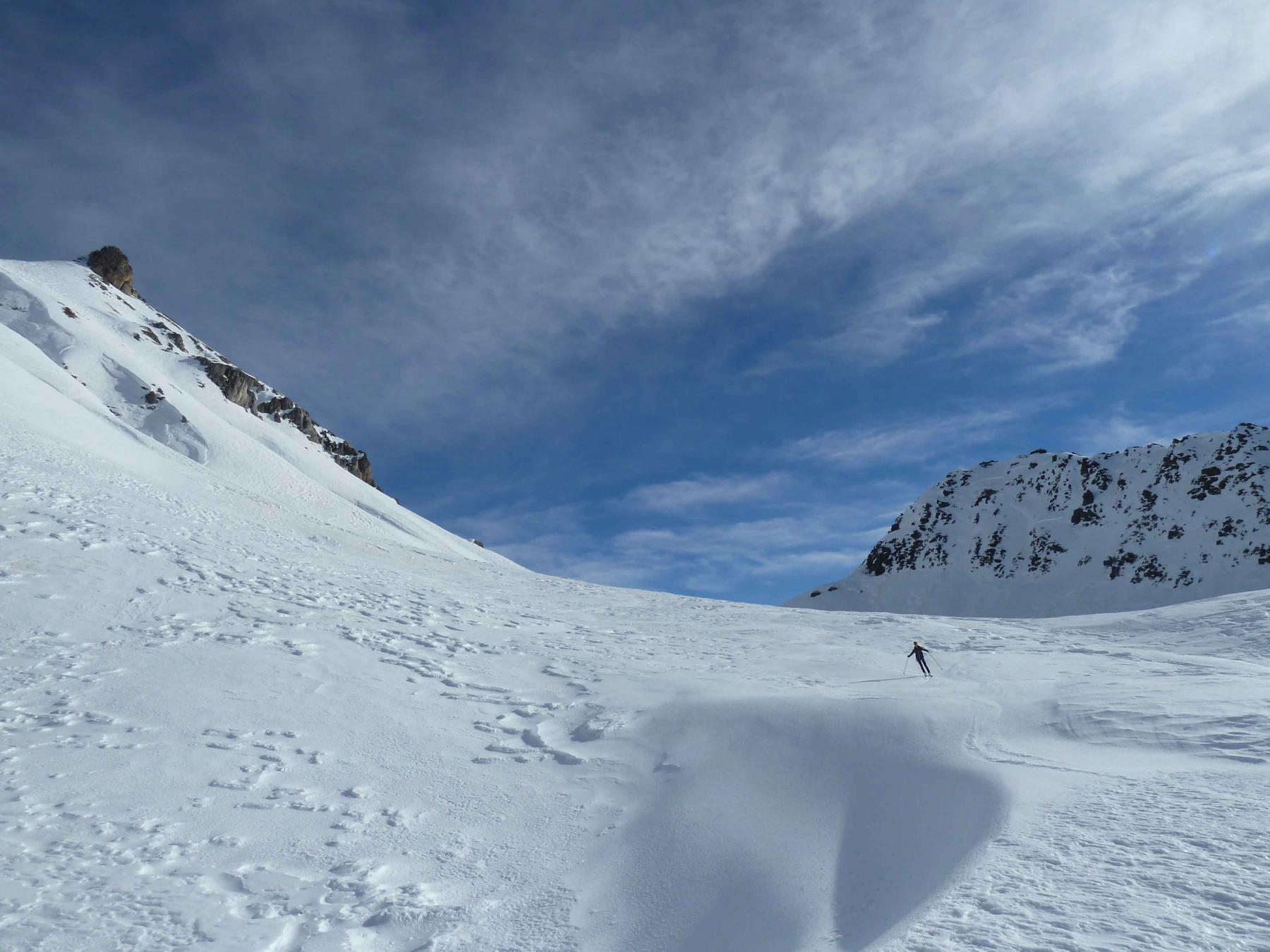 Sfruttando le lingue di neve ventata