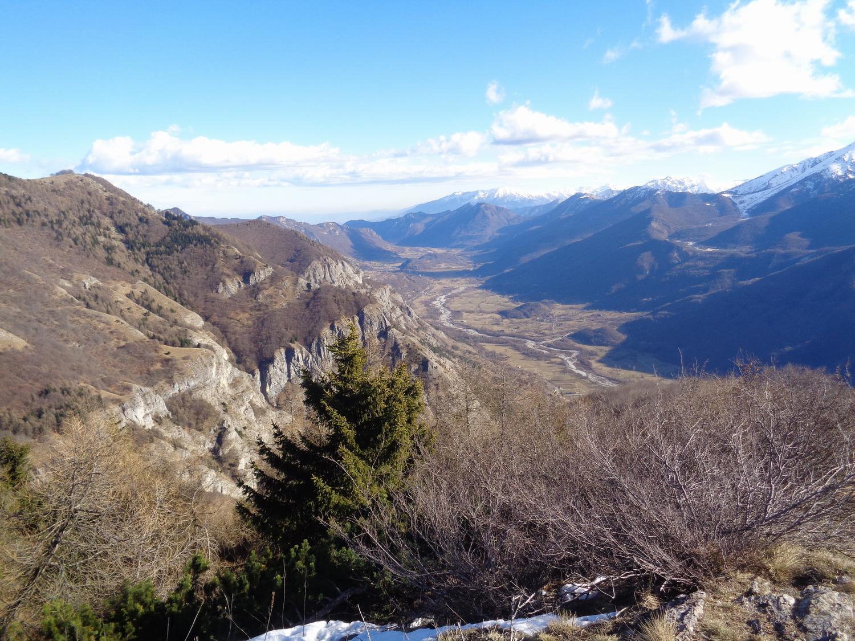 ottimo panorama sulla bassa valle Stura
