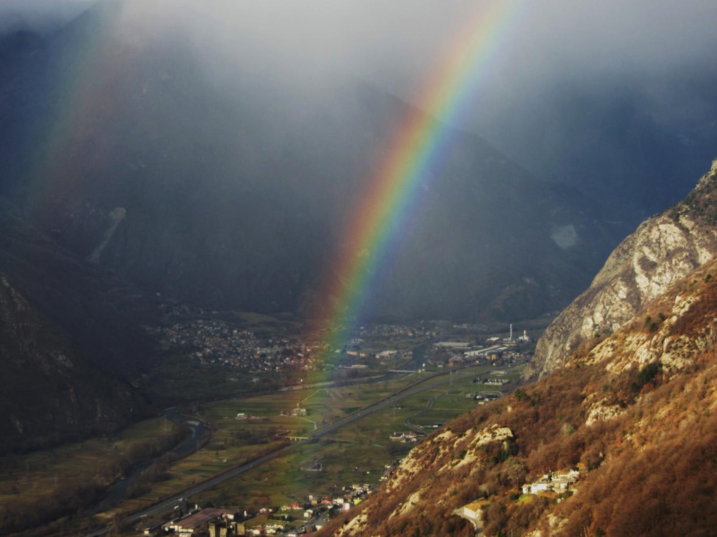 il saluto dell'arcobaleno