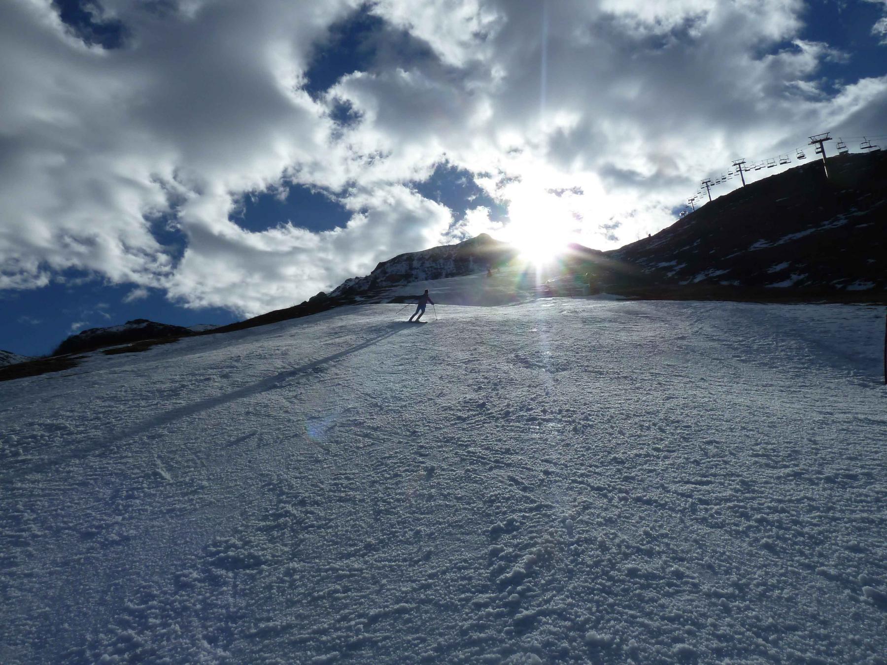 Verso Artesina Bassa, gran neve in pista oggi