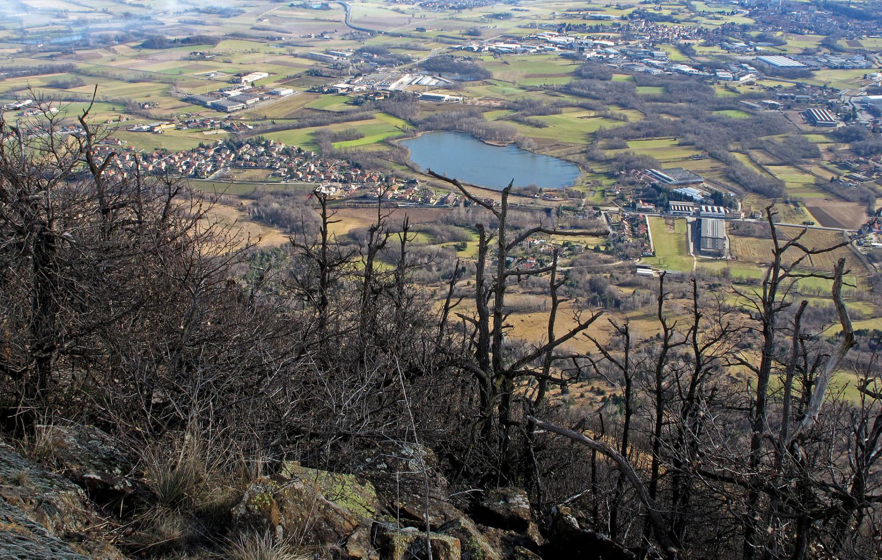 Vista sul laghetto di Casellette