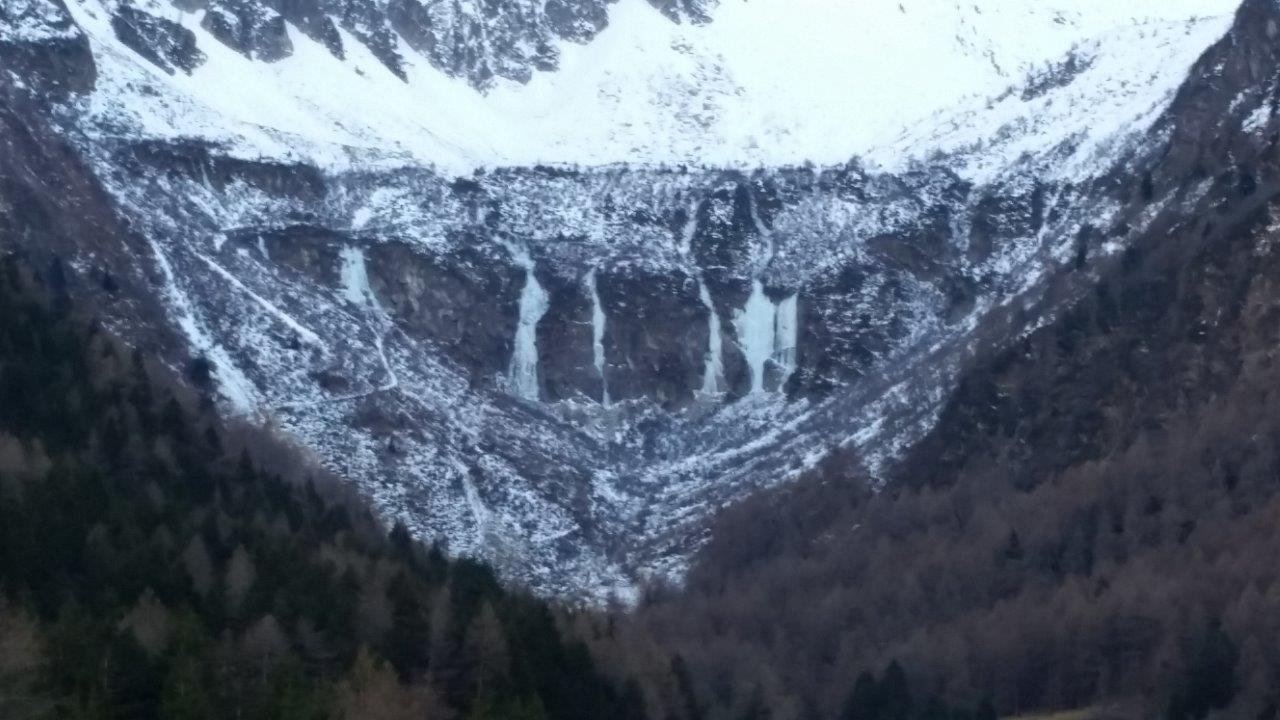 Le cascate dall'arrivo della seggiovia