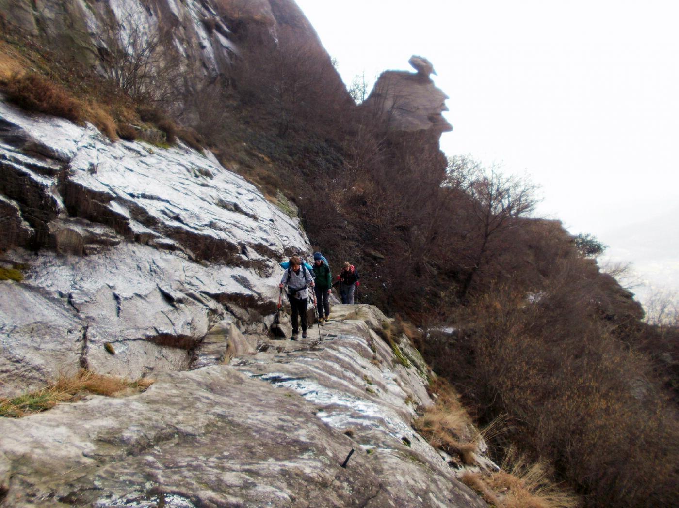un tratto del sentiero nel Vallone di Reynaud