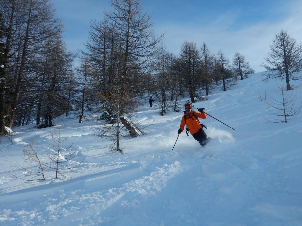 Bella neve fino al lago Nero