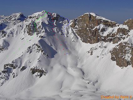 itinerario in blu (foto skitour)