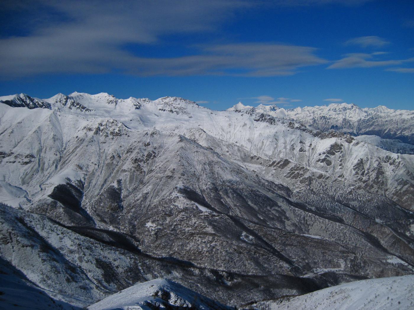 Le montagne della val di Susa, poco innevate