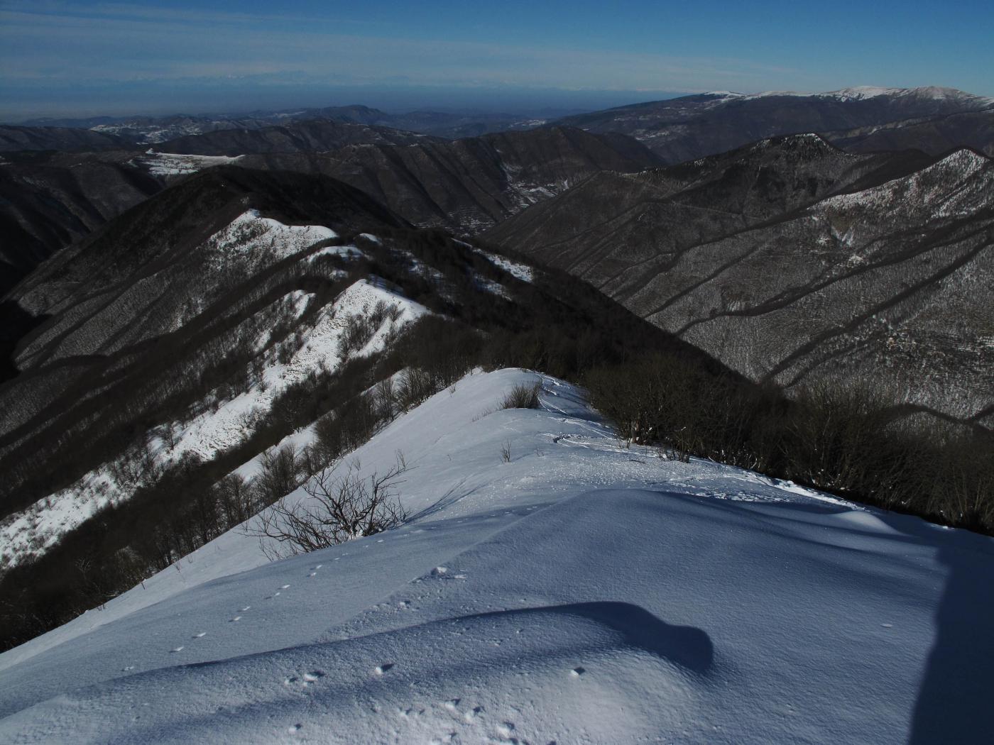 discesa sulla cresta nord