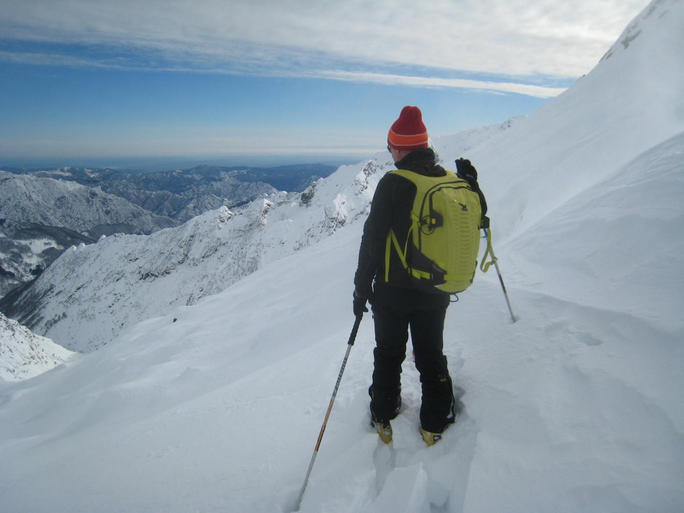 versante verso la Val Baranca dal colle
