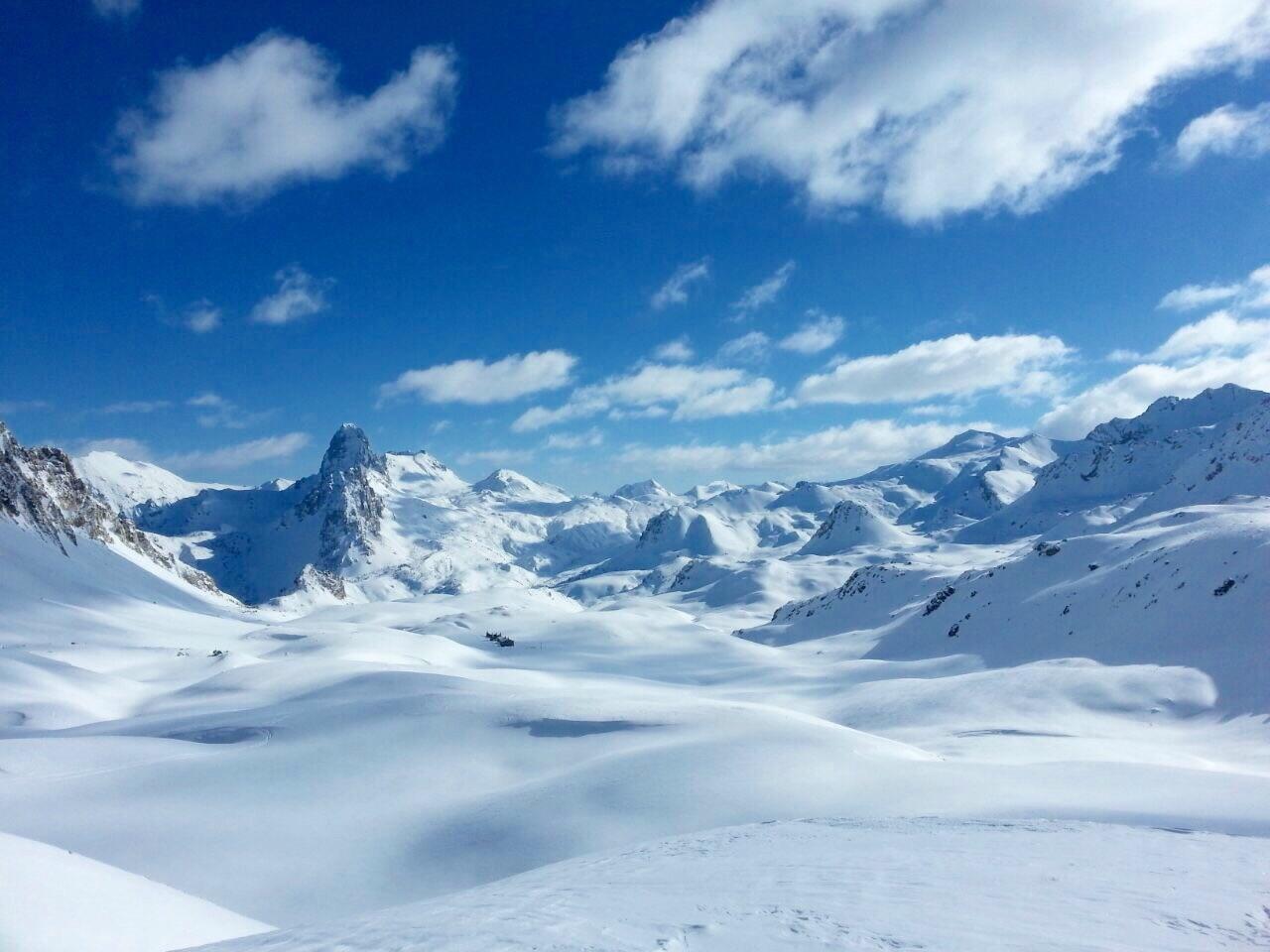 Mare di neve verso la Meja