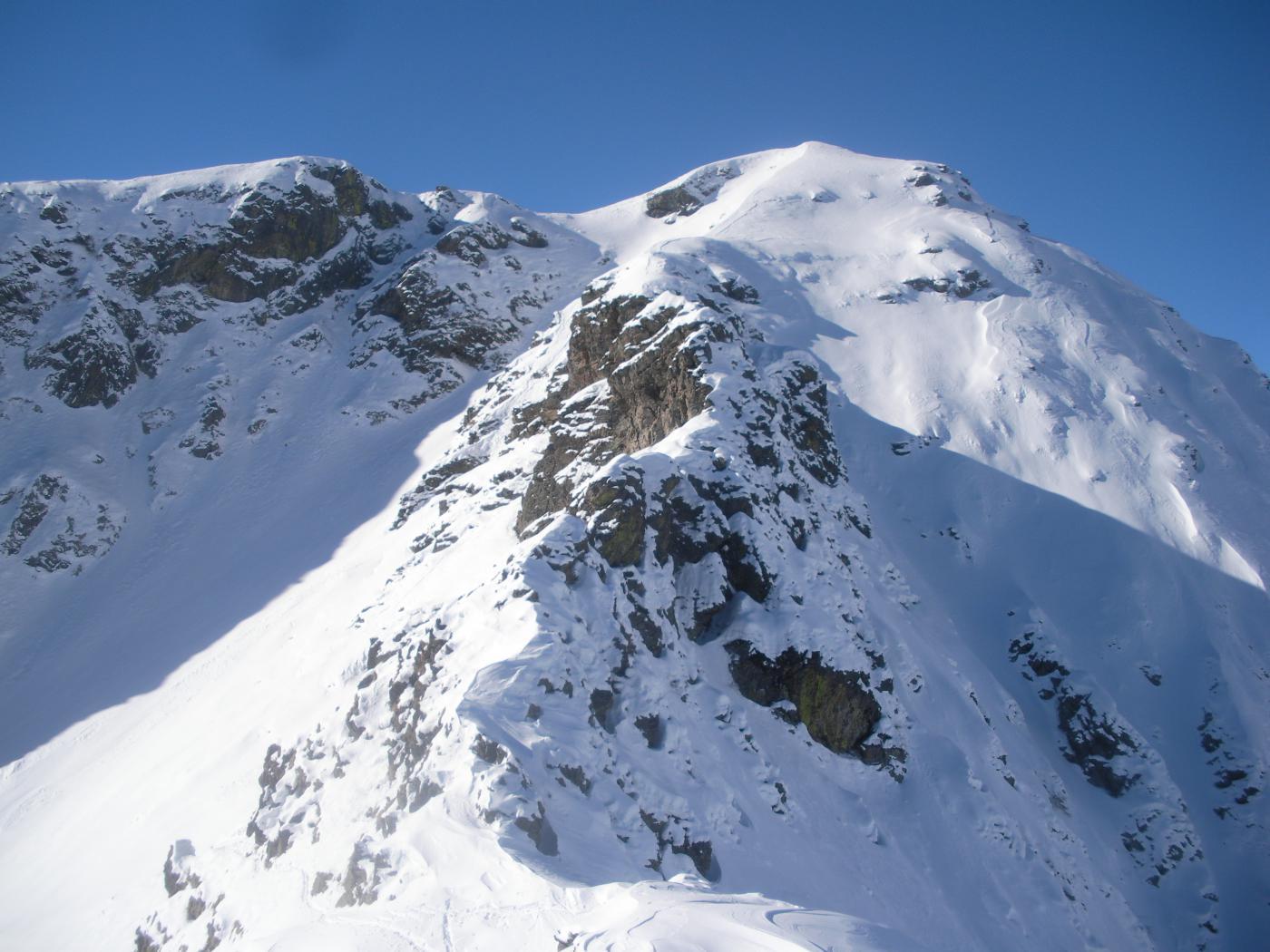la quota 2387m dalla cresta Bianasso..