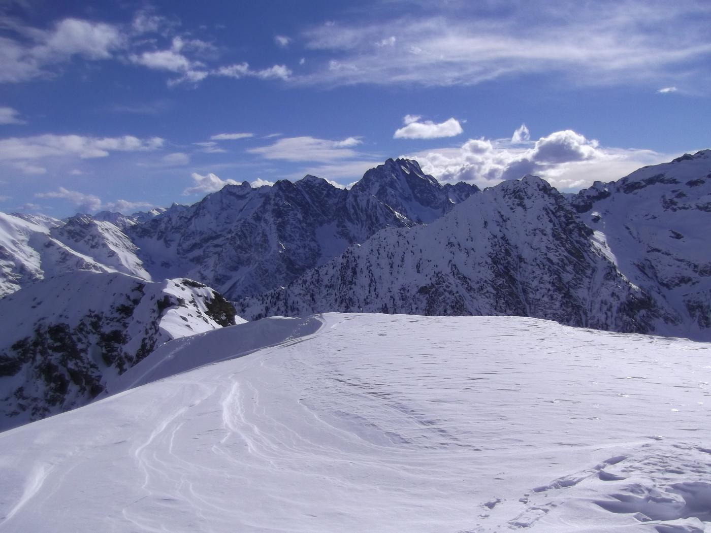 L'Argentera e dintorni dalla cima del Monte Bourel