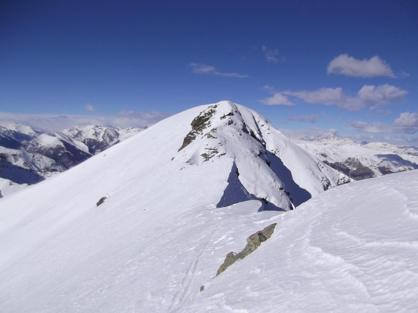 Il Monte Bourel dalla cresta est