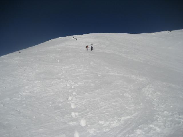 in salita sotto l'alpe Campallero