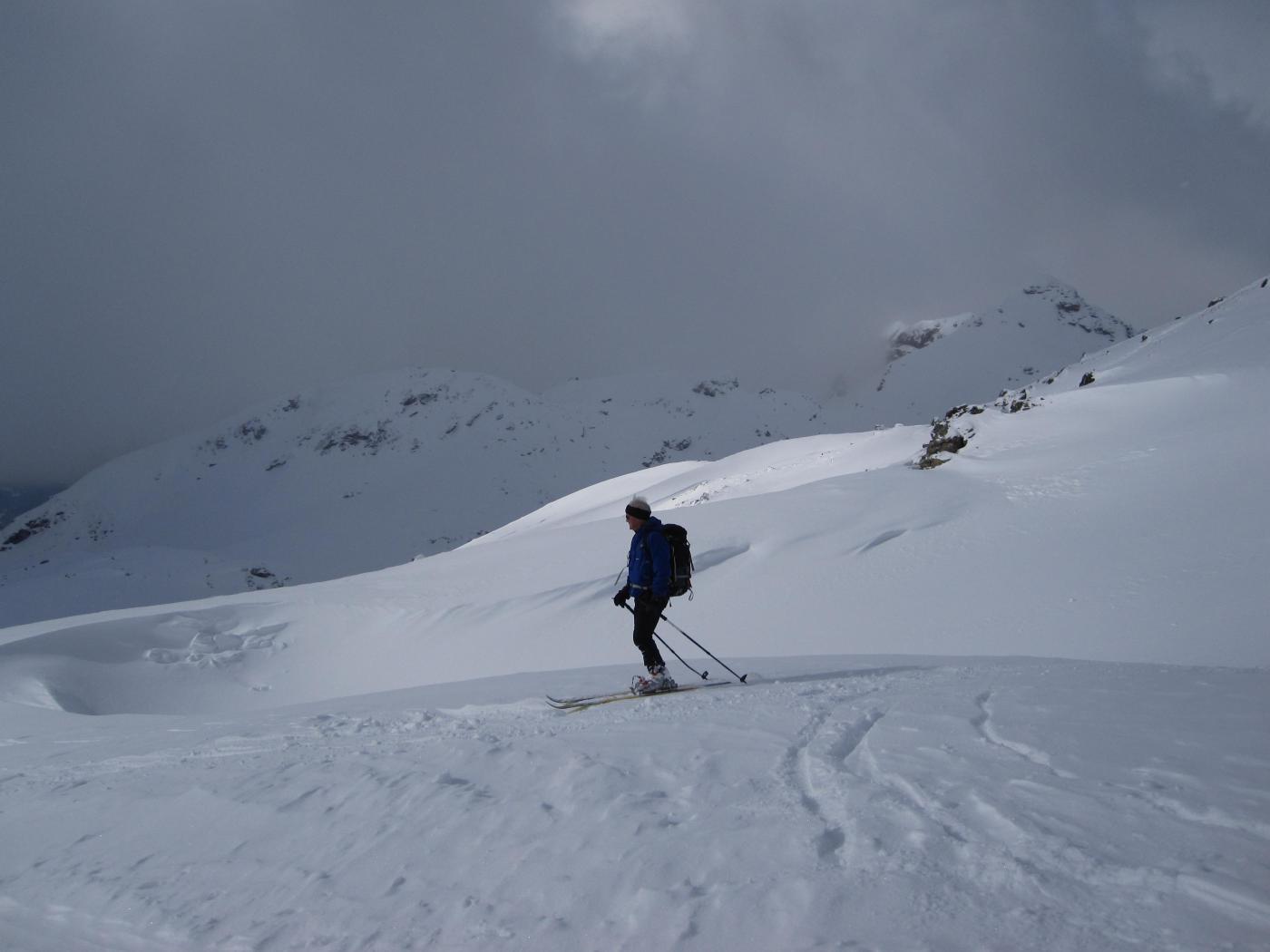 poco sopra l'alpe Palasinaz