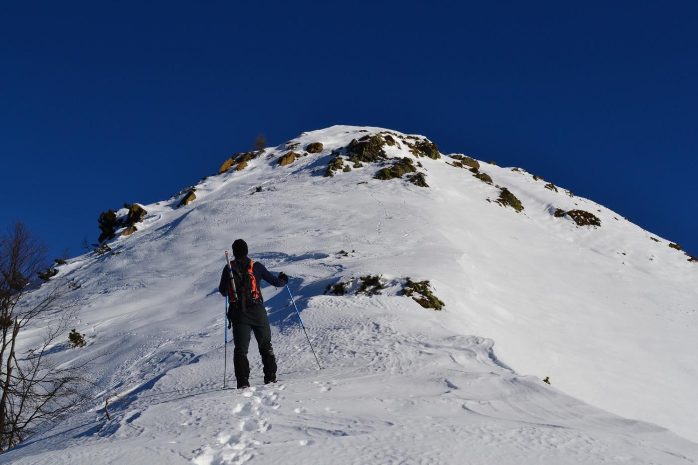 il Monte Torriggia con l'ultimo tratto di salita
