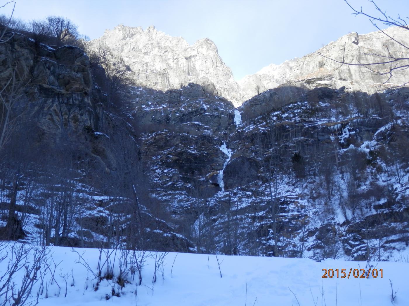 Salto delle Streghe (Cascata) - Vallone d'Arnas 2015-02-02