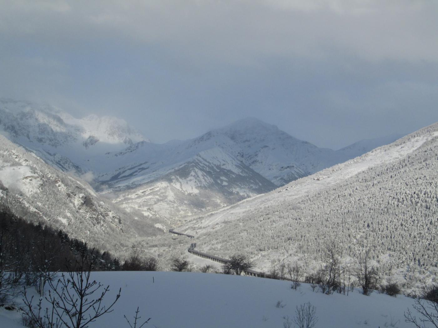 alta valle in veste invernale