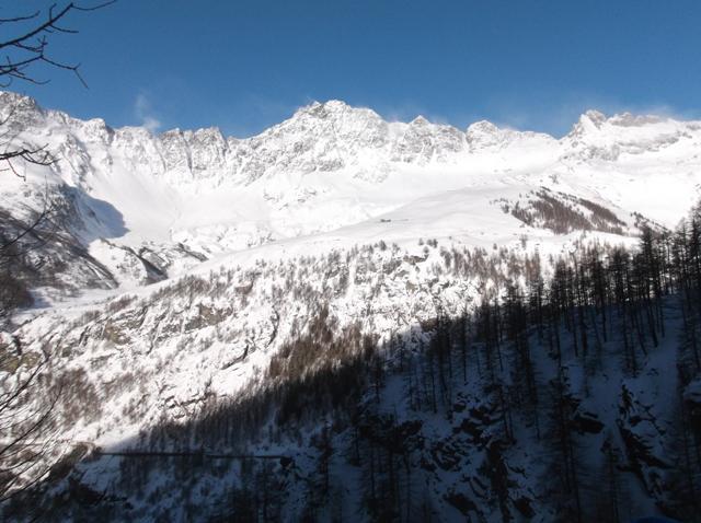 Panorama versante opposto, carico di neve