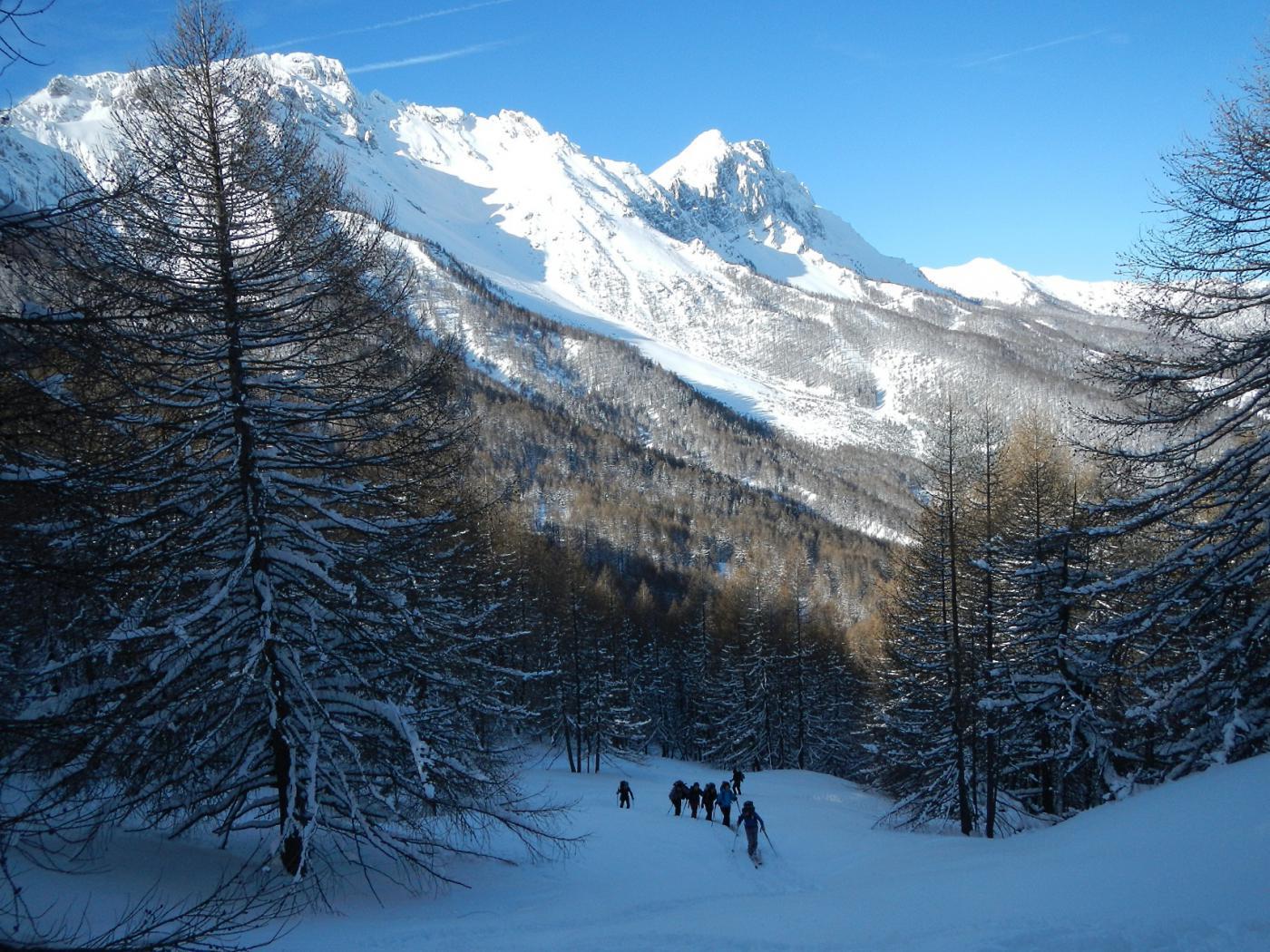 sullo sfondo: p.ta Clotesse, Grand'Hoche e Guglia d'Arbour