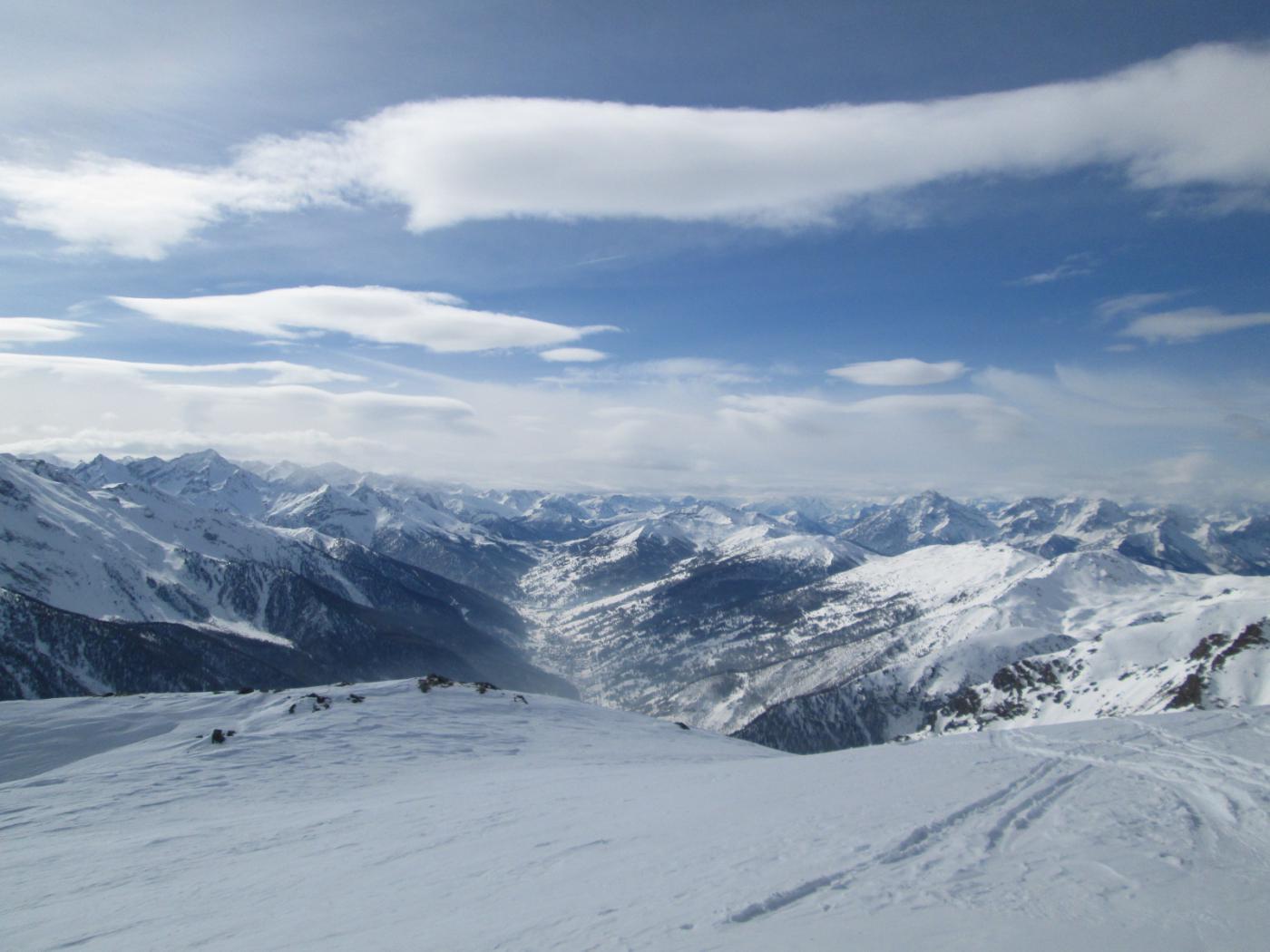 panorama verso l'alta Val Chisone