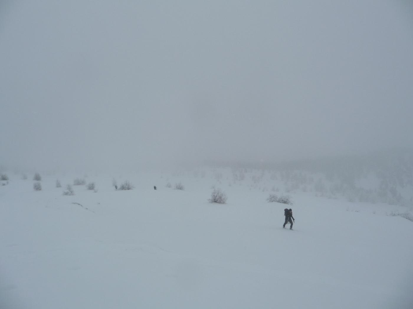 Ultimi metri sotto la nevicata