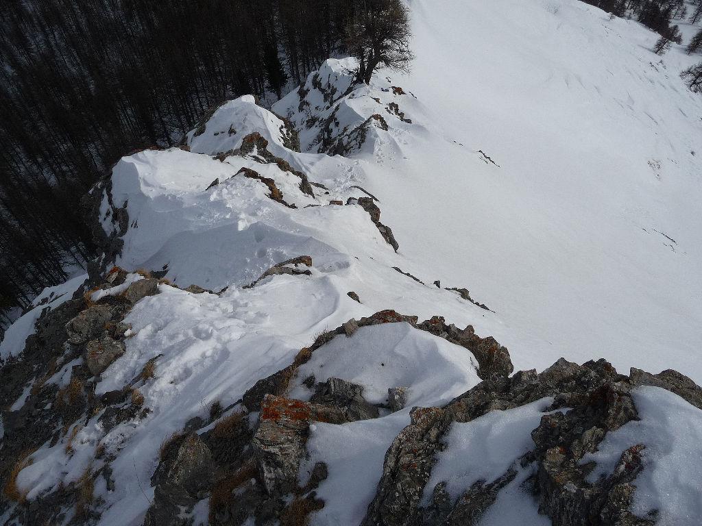 Croce San Giuseppe - tratto roccette