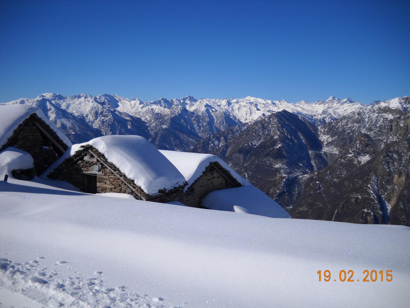 panorama dall'Alpe Leretta 1790mt.