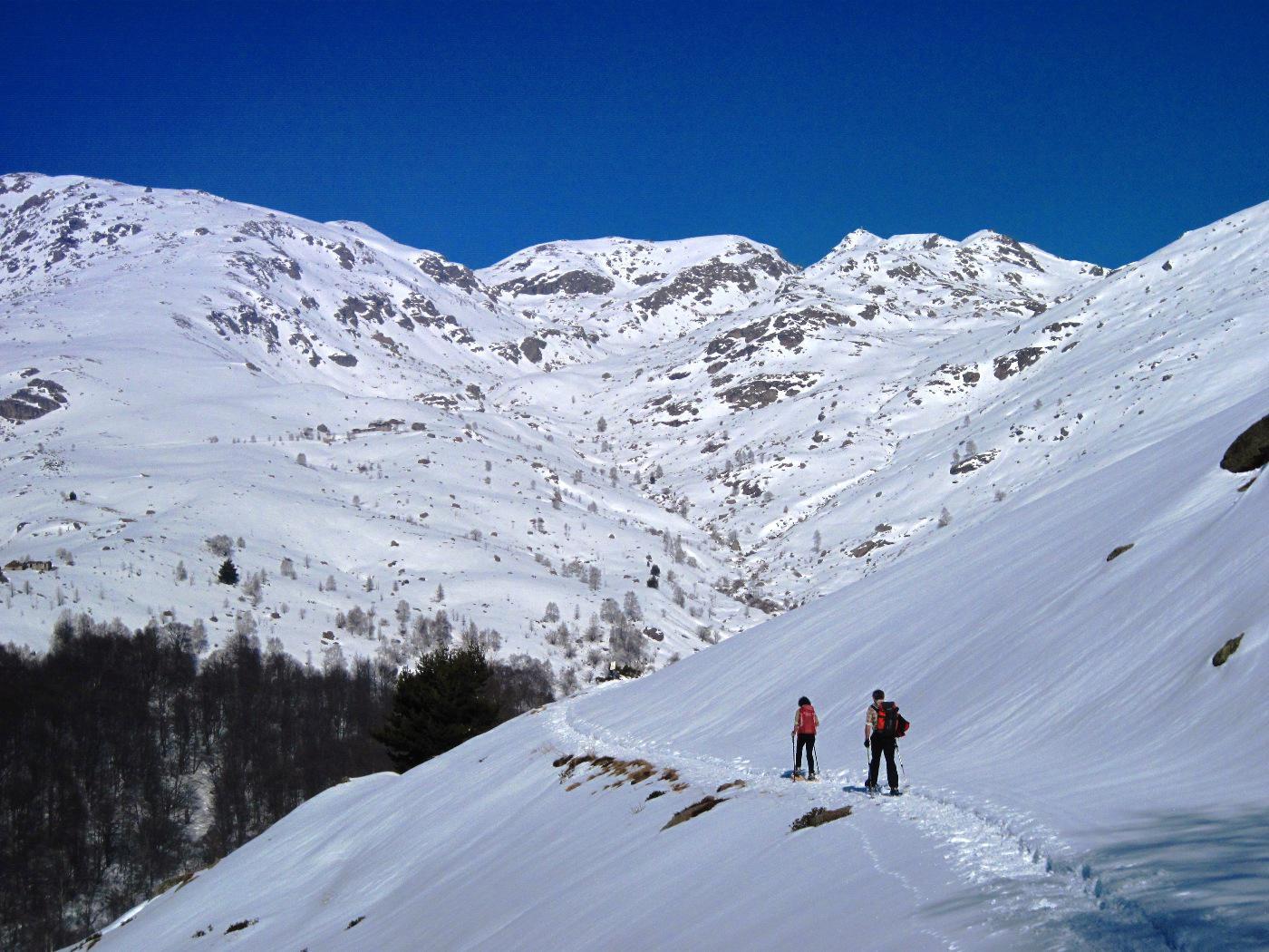 Verso l'Alpe Cavanna