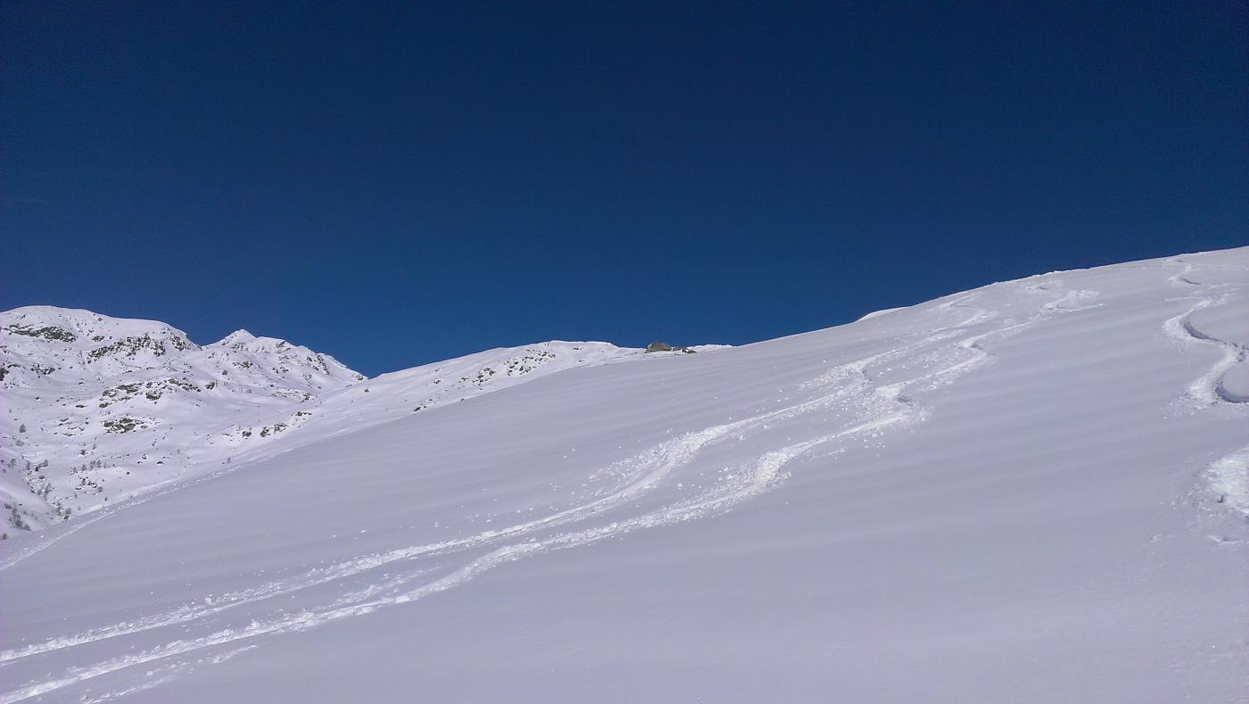 Pendii superiori, bella neve