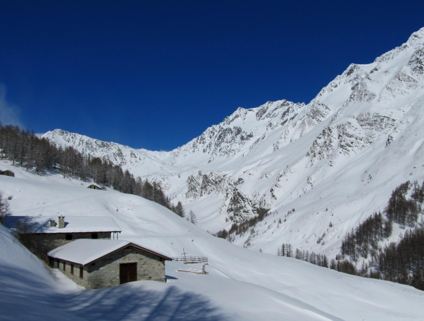 Mont Velan dall' alpeggio Menovy.