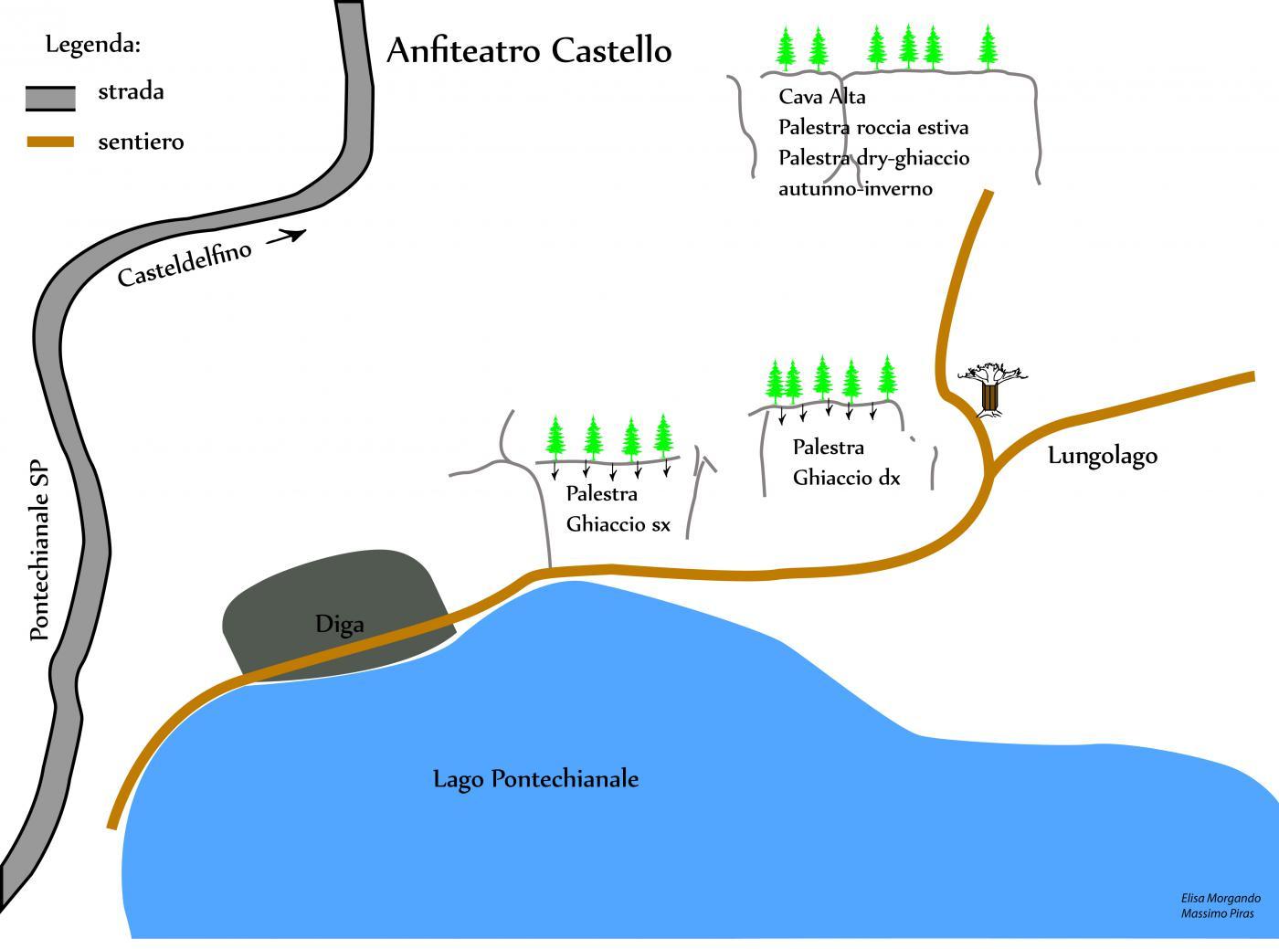 Accesso dalla diga di Pontechianale