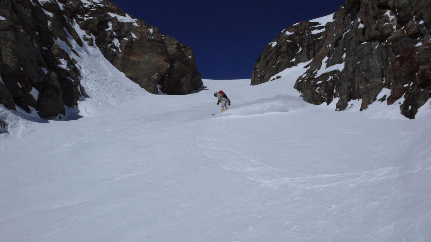 Nel Canale dell'Aquila su neve da favola